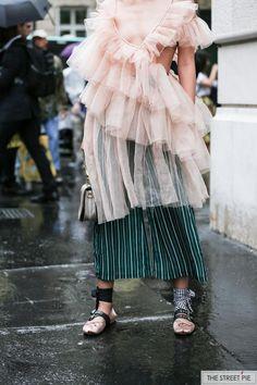 Fashion Week - Outside Chloe / Paris Fashion Week SS18