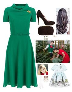 """""""(Read) Receiving Christmas trees at the Château de Versailles with HRH The Grand Duchess Amélie of Poix, before attending various events and Paris and leaving to London"""" by fashion-royalty ❤ liked on Polyvore featuring Carolina Herrera, Tiffany & Co., Love Made Love and Falke"""