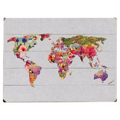 The beauty in the world is still there!  world map wall décor!