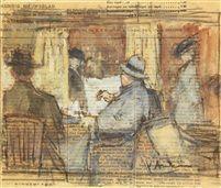 Floris Arntzenius (1864-1925) - People reading the news