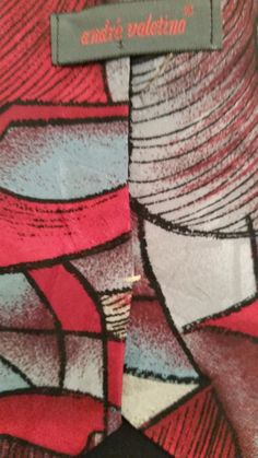 NEW Andre Valetino Geometric 100%Silk Multi Color Classic Mens Neck Tie #AndreValetino #NeckTie