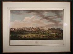 1799 Antique Hand Colored Acquatint of South View of Windsor Castle Oil Painting For Sale, Paintings For Sale, Oil Paintings, Windsor Castle, Victorian Art, Hand Coloring, Antiques, Antiquities, Antique