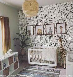 Cheetah Leopard Allover Spots Wall Stencil for Animal Print Decor – Royal Design Studio Stencils