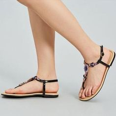 Pearl Wedding Sandals Page 2 - gifthershoes Pearl Sandals, Lace Up Sandals, Lace Up Heels, Flat Sandals, Leopard Print Sandals, Bohemian Sandals, Womens Summer Shoes, Casual Heels, Leather Heels