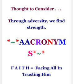 9-13-16 thought to consider & aacronyms