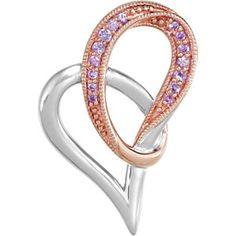 Genuine Pink Sapphire Heart Pendant