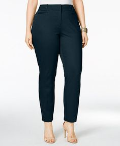 Style & Co. Plus Size Slim-Leg Ankle Pants, Only at Macy's - Style & Co. - Plus Sizes - Macy's