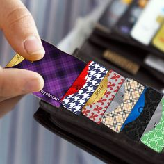 RFID Blocking Sleeves Side Load Designer Style