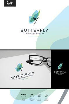 Butterfly Logo Template #Logo #Butterfly #Logo #Template