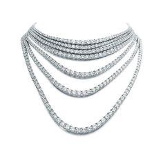 Tiffany Masterpieces Ribbons seven-strand diamond necklace