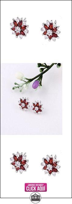 Snowflake Stud Earrings Sterling Silver Ruby Red Swarovski Elements Crystal Post Screwback For Women  ✿ Joyas para mujer - Las mejores ofertas ✿ ▬► Ver oferta: https://comprar.io/goto/B0185W5T0U