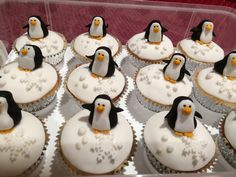 Penguin Cupcakes for school!