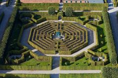 Hedge labyrinth in Germany. Formal and beautiful.