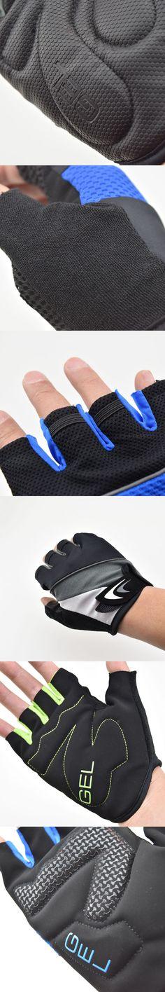STE Men Half Finger Cycling Gloves Breathable Summer Bike Bicycle Gloves Short Finger MTB Gloves