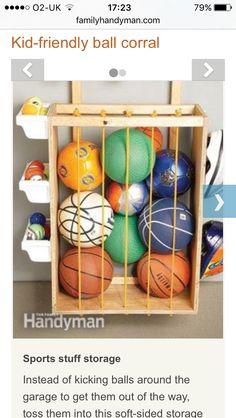 Outdoor Toy Storage, Diy Garage Storage, Kids Storage, Closet Storage, Diy  Toy