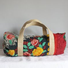 Duffle bag vintage kantha gypsy floral by roxycreations on Etsy