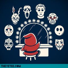 "Shy Guy has way too many mask options to choose from thanks to artist Matt Parsons! This ""killer"" new mash up shirt design is available at The Yetee for $11 until Monday July, 16 2012.  Contest!: Get a chance at winning the shirt for free by commenting and sharing The Yetee's Facebook post!  Decisions, Decisions by Matt Parsons (RedBubble) (Flickr) (Twitter)  Via: theyetee"
