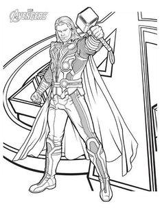ausmalbilder avengers thor ausmalbilder | superhelden