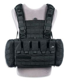 Tasmanian Tiger Chest Rig Mk2 M4 Just picked this up from DS Tactical. I haven't tested it at the range yet but it feels great in practice... I fitted it with a vertical six round 12 gauge strip, a flashlight taco and a double mag pouch... All fit the webbing well and just were I need em!