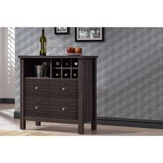 Baxton Studio Dakota Modern And Contemporary Dark Espresso Brown Wood Wine Bar Cabinet - ShopStyle Living Room Furniture Wine Bar Cabinet, Wine Cabinets, Storage Cabinets, Living Room Furniture, Home Furniture, Baxton Studio, Brown Wood, Dark Brown, Engineered Wood