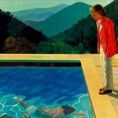 David Hockney- Portrait of an Artist 1972  British pop artist.