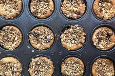 These a hearty breakfast power muffin made vegan by using a vegan yogurt. They also have apples and blueberries and a nutty streusel for added oomph. Vegan Yogurt, Vanilla Yogurt, Power Muffins, Yogurt Muffins, Create A Recipe, Muffin Cups, What's Cooking, What To Cook, Meals For The Week