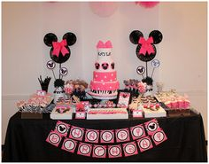 Pink Minnie Mouse Birthday Party Package Birthday by Honeyprint