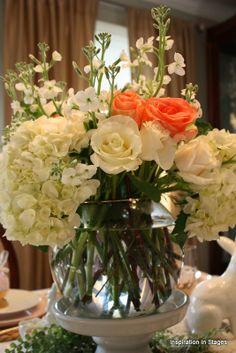 Easter flower arrangement via Inspiration in Stages