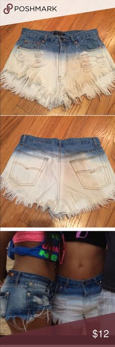 High waist cut off dyed Shorts Cut off shorts Love Culture Shorts