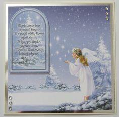 Christmas card using Hunkydory kit.