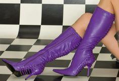 Paarse laarzen
