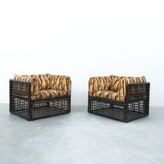 Tobia Scarpa For B&B Italy Outdoor or Porch Chairs, circa 1975