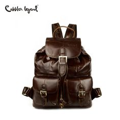 0c884f23058 US  34.77 63% OFF Aliexpress.com   Buy Cobbler Legend Bucket Women Genuine Leather  Backpacks Female Vintage School Shoulder Bags for Teenage Girls Travel ...