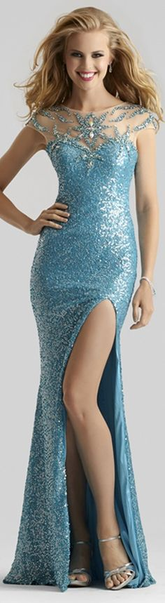 Turquoise Evening Gown  www.puddycatshoes.com