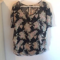 Floral shirt Very light weight, sheer, not stretchy. Not forever 21 Forever 21 Tops
