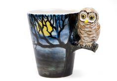 Owl Handmade Coffee Mug