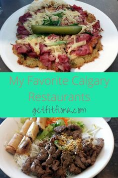 My Favorite Calgary Restaurants - Get Fit Fiona Meat Pizza, Meat Sandwich, Sandwiches For Lunch, Calgary Restaurants, Sushi Restaurants, Fast Food Places, Vietnamese Restaurant, Delicious Burgers, Rice Dishes