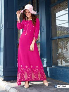 Pink Kurti, Textile Market, Gold Print, Beautiful Gowns, Stylists, Classy, Saree, Kurtis, Hot