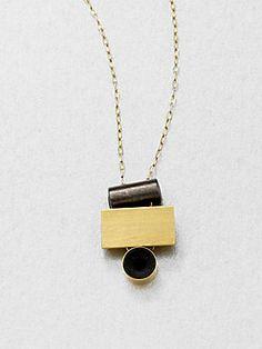 Etten Eller Stacked Bead Pendant Necklace