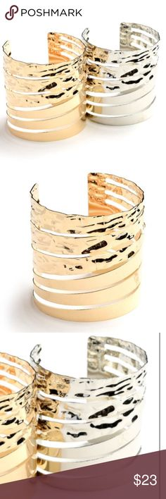 COMING SOON!📿Cutout Design Cuff Bracelet📿 Cutout design cuff bracelet.  I have these in gold and silver. Perfect for any occasion from formal to casual. Jewelry Bracelets