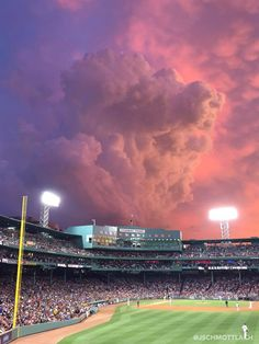 Look At These Incredible Clouds Over Fenway Park Last Night The Boston Red Sox Game