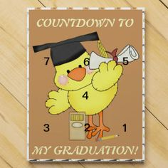 Chocolate Countdown calendar my Graduation Bird