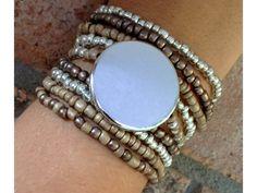 Multistrand beaded bracelet by Carolinelenox on Etsy, $25.00