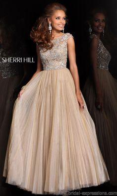 Sherri Hill 2984 Sheer Cap Sleeve Prom Dress