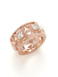 Belargo Rose Gold Cut Out Flower CZ Ring