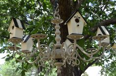 Birdhouse Chandelier for the Garden