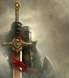 fantasy medieval knight armor praying before god Medieval Knight Armor, Medieval Fantasy, Dark Fantasy, Fantasy Art, Knight Sword, Knight Art, Angel Warrior, Fantasy Warrior, Templar Knight Tattoo