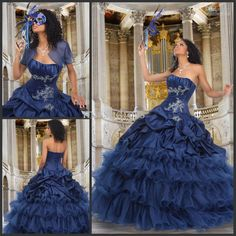 Wholesale Sweet 16 Dresses - Buy Custom Made Crystals Beading Sweet 16 Ball Gown Masquerade Quinceanera Dress, $195.0 | DHgate