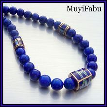 Truly spectacular necklace with Lapis Lazuli in beautiful blue hues. $155  http://www.rubylane.com/shop/muyifabu