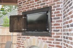 Outdoor TV Cabinet Plans-For Outside Entertainment.: Outdoor TV Enclosure ~ mybutteryfly.com Exterior Inspiration